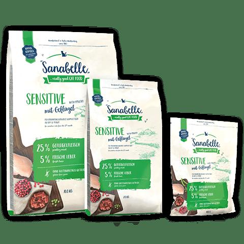 Bosch Sanabelle Sensitive Poultry / Диетический кошачий корм с мясом домашней птицы